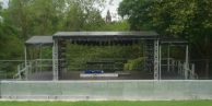 OUTDOOR STAGE & BARRIER